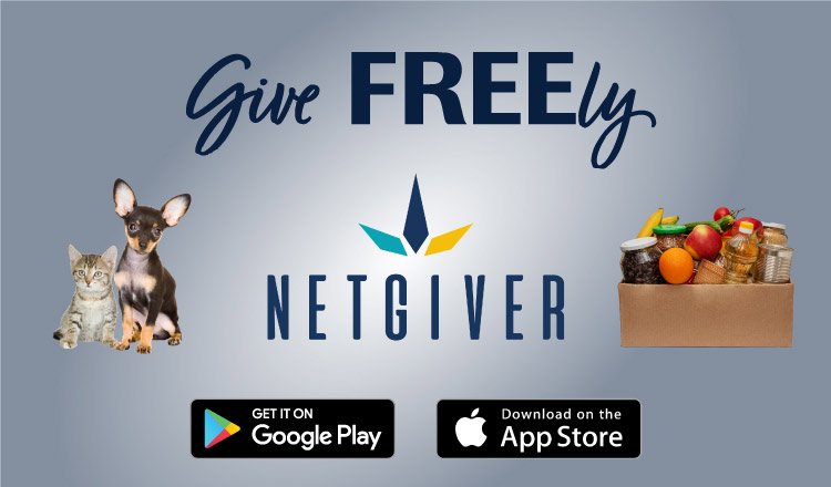 Give Freely on the NetGiver app