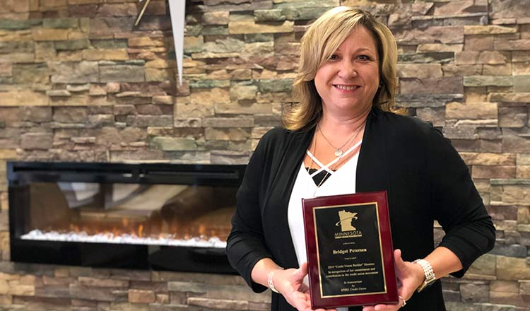 Bridget Petersen Receives Credit Union Builder Award
