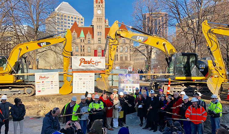 Dan Stoltz Leads Groundbreaking of Ice Palace