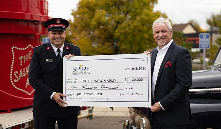 SPIRE to Match $100K in Donations to Salvation Army