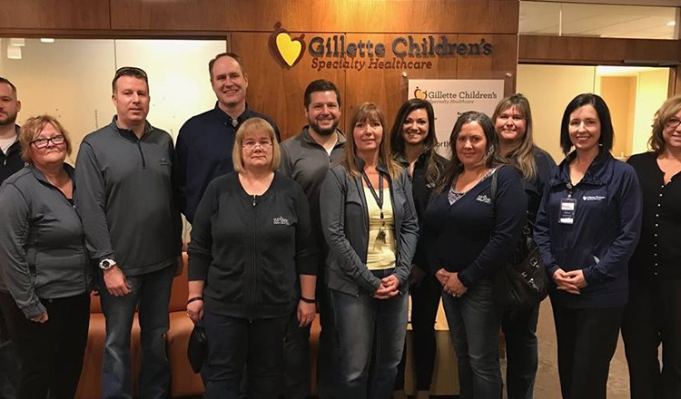 Members of SPIRE Management Team Visit Gillette Children's Specialty Healthcare