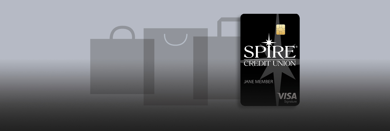 Example image of a SPIRE VISA Credit card