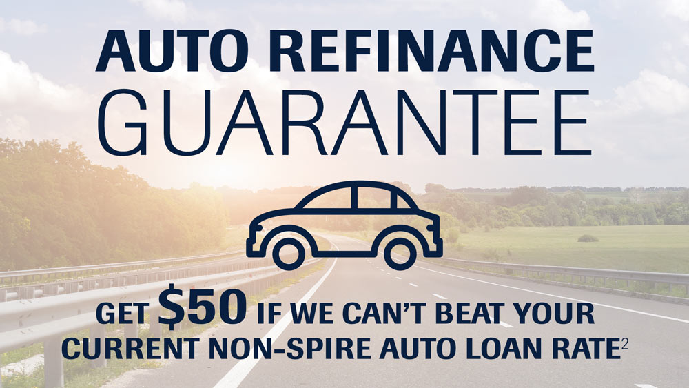 Get $50 if we can't beat your current non-SPIRE auto loan rate*