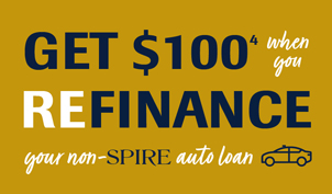 Get $100 when you refinance your non-SPIRE auto loan
