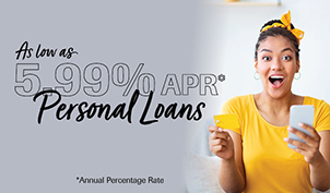 As low as 5.99% APR* personal loans
